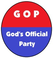 God's Official Party button