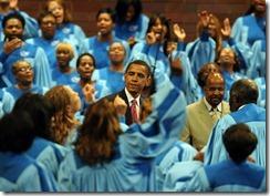 At Apostolic Church of God, Chicago, in 2008