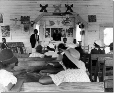 1937 African Americans attending Sunday school in the South.