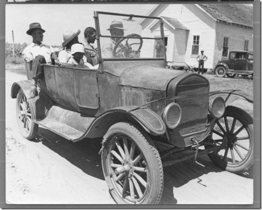 1937 People in jalopy
