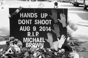 Ferguson shooting memorial