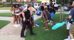 McKinney Texas officer pulling gun